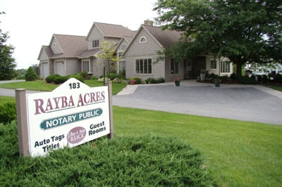 Rayba Acres sign
